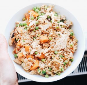 Chicken and rice healthy bowl