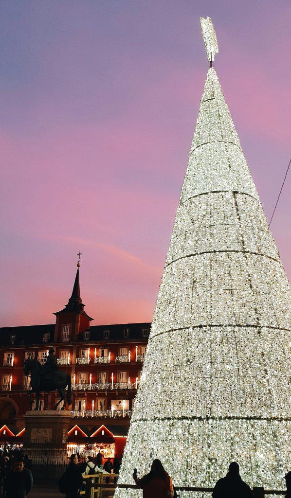 The Plaza de Mayor Christmas Tree