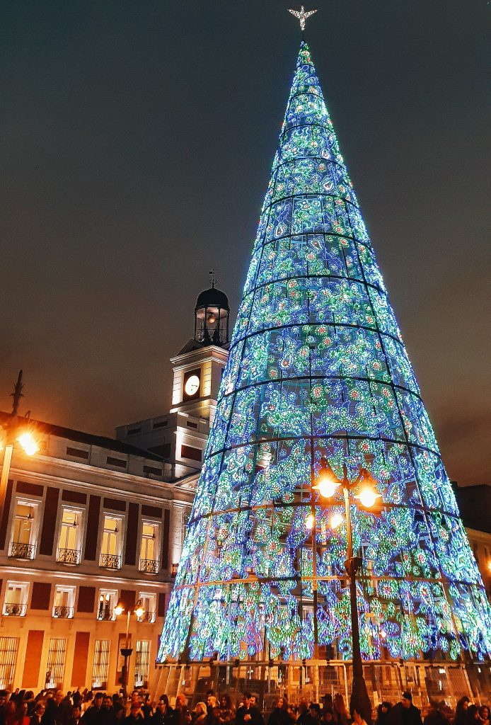 The Christmas tree in El Puerta del Sol