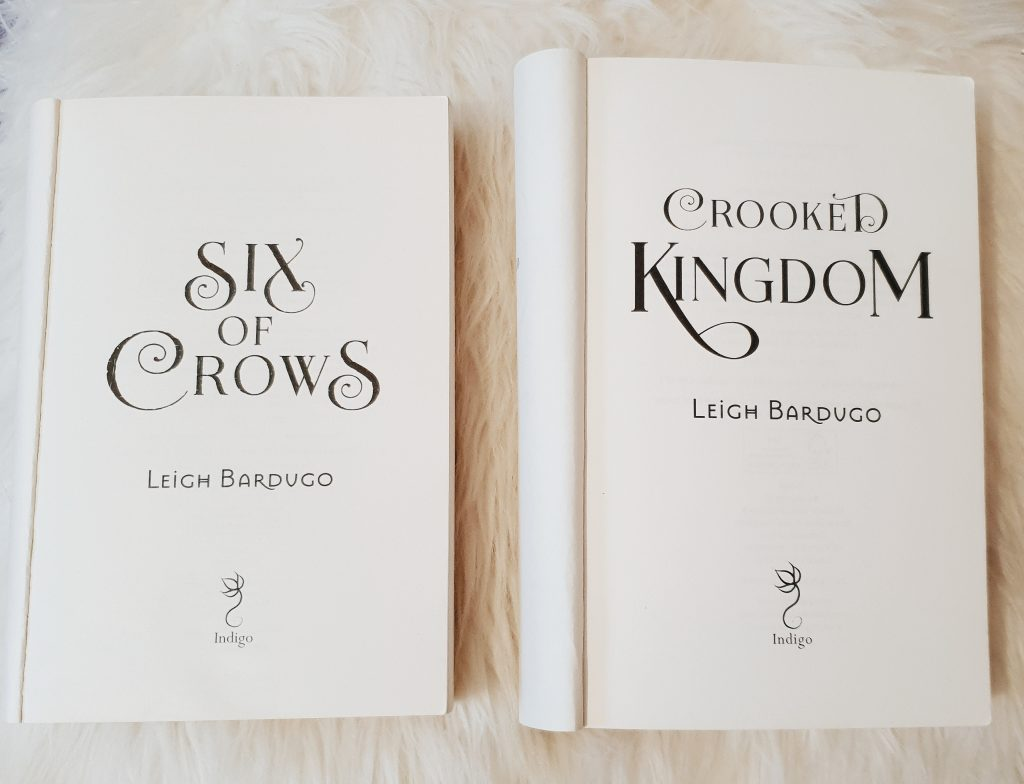 Six of Crows and Crooked Kingdom by Leigh Bardugo book covers