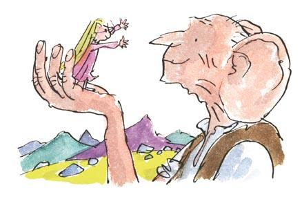 The BFG and Sophie from The BFG, by Roald Dahl