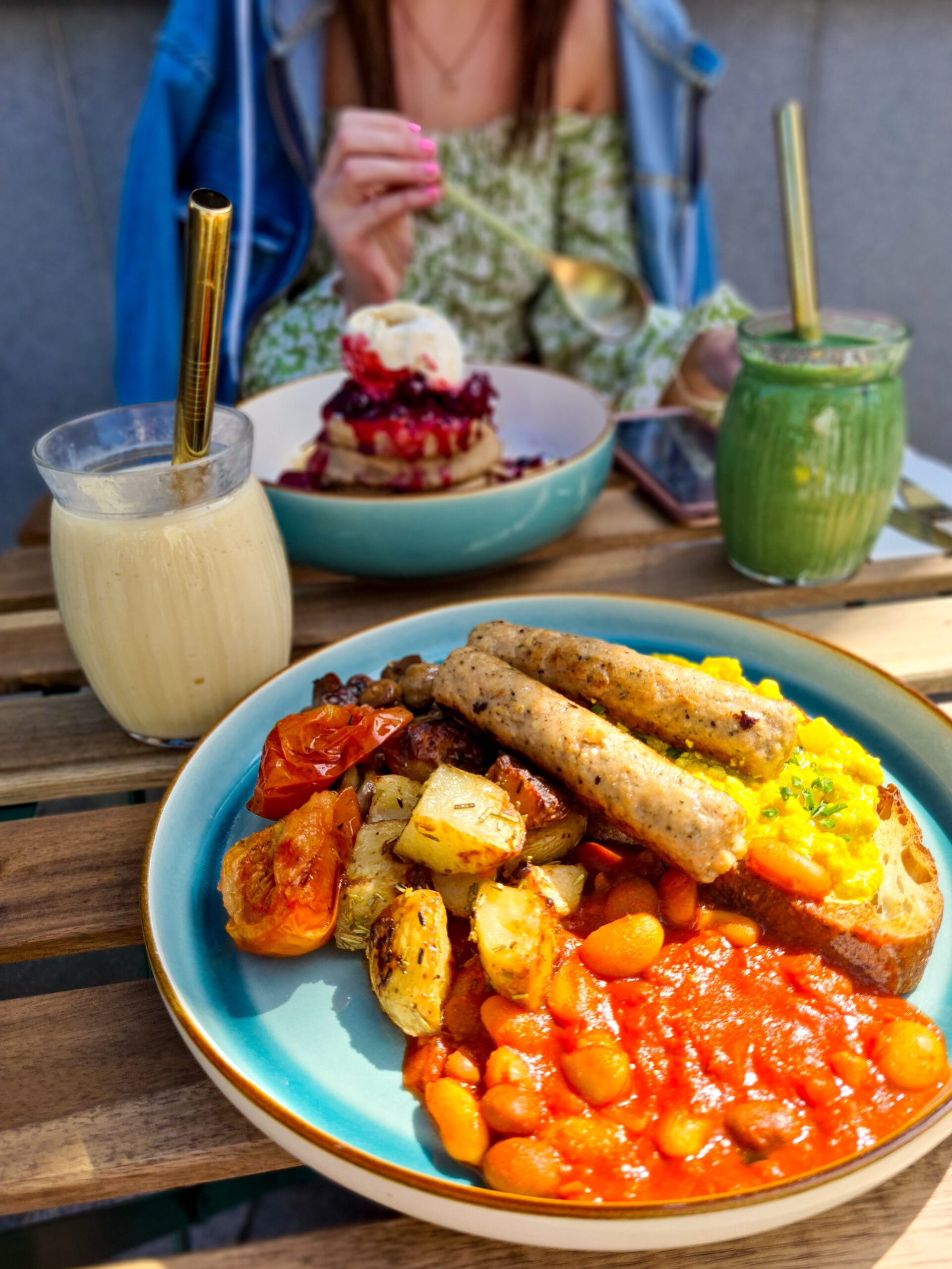 The Vibe vegan breakfast